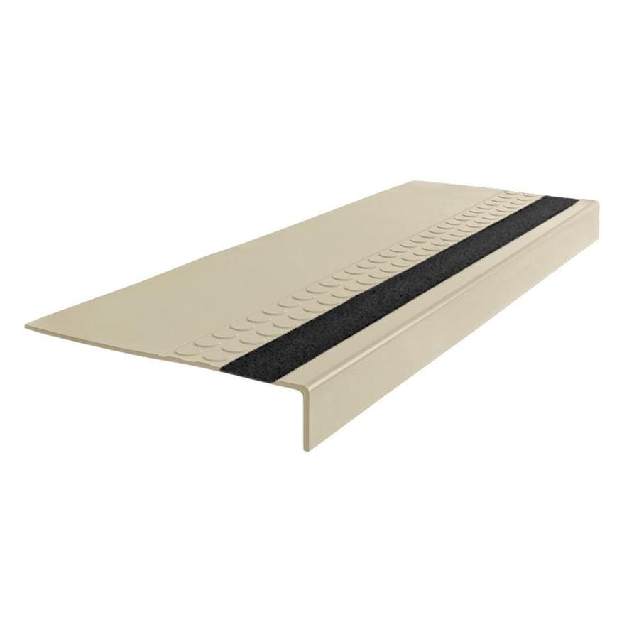 FLEXCO 12-in x 54-in Neutrail Rubber Square Nose Stair Treads