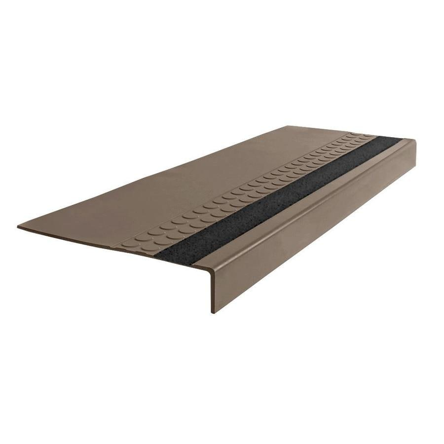 FLEXCO 12-in x 48-in Milk Chocolate Rubber Square Nose Stair Treads