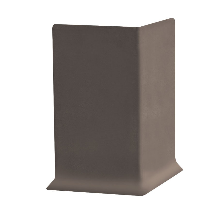 FLEXCO 30-Pack 4-in W x 0.25-ft L Chocolate Thermoplastic Rubber Outside Corner Wall Base