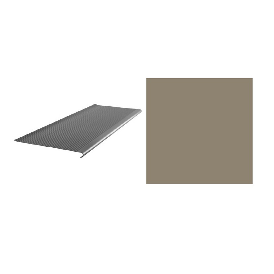 FLEXCO 12.406-in x 36-in Dark Beige Stair Nose Floor Moulding