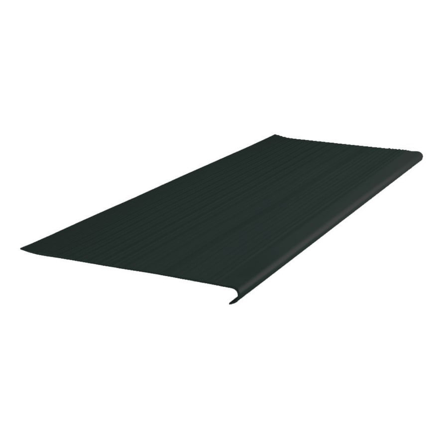 FLEXCO 12.5-in x 48-in Black Dahlia Vinyl Round Nose Stair Treads