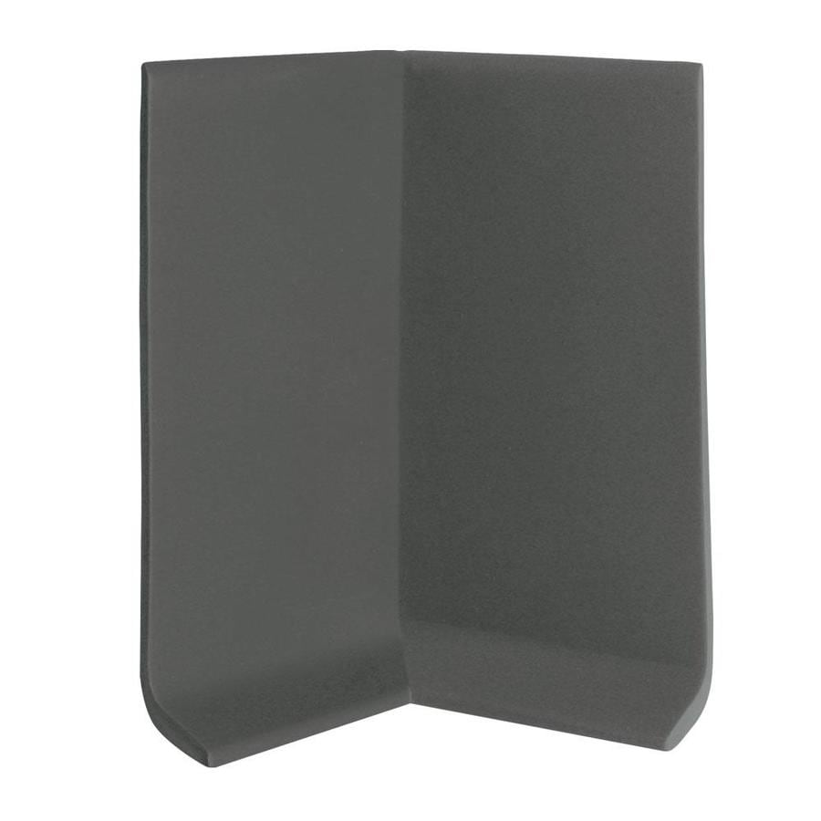 FLEXCO 30-Pack 2.5-in W x 0.25-ft L Black Brown Thermoplastic Rubber Inside Corner Wall Base