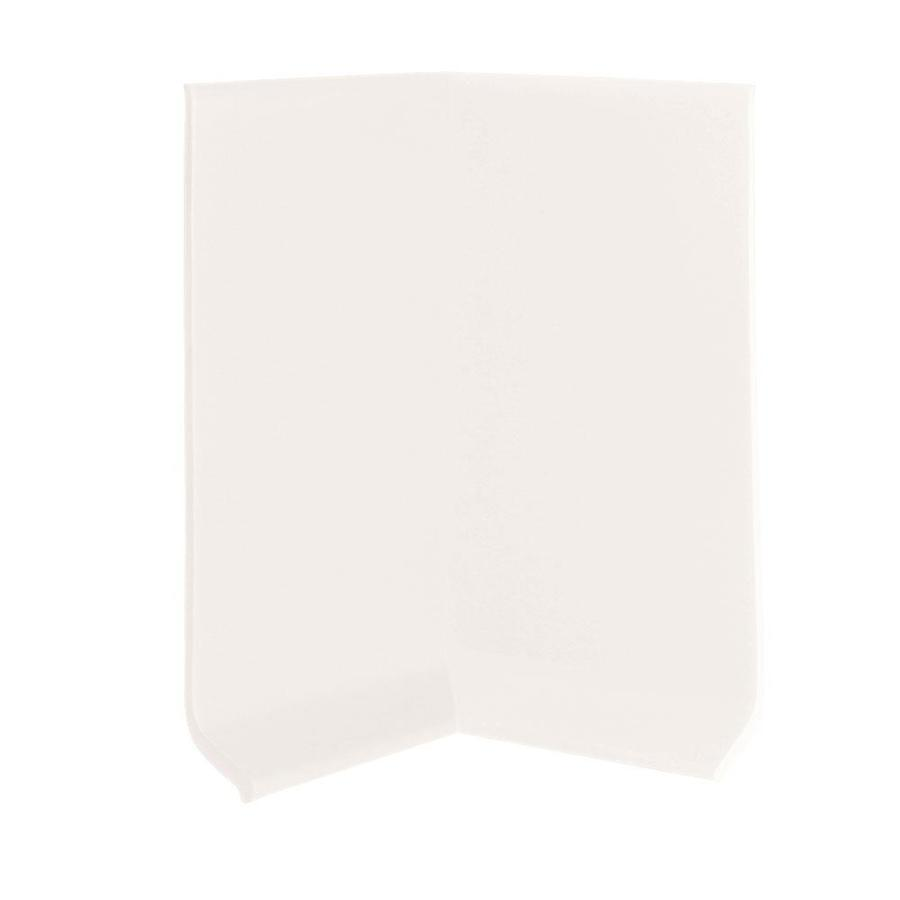 FLEXCO 30-Pack 2.5-in W x 0.25-ft L True White Thermoplastic Rubber Inside Corner Wall Base