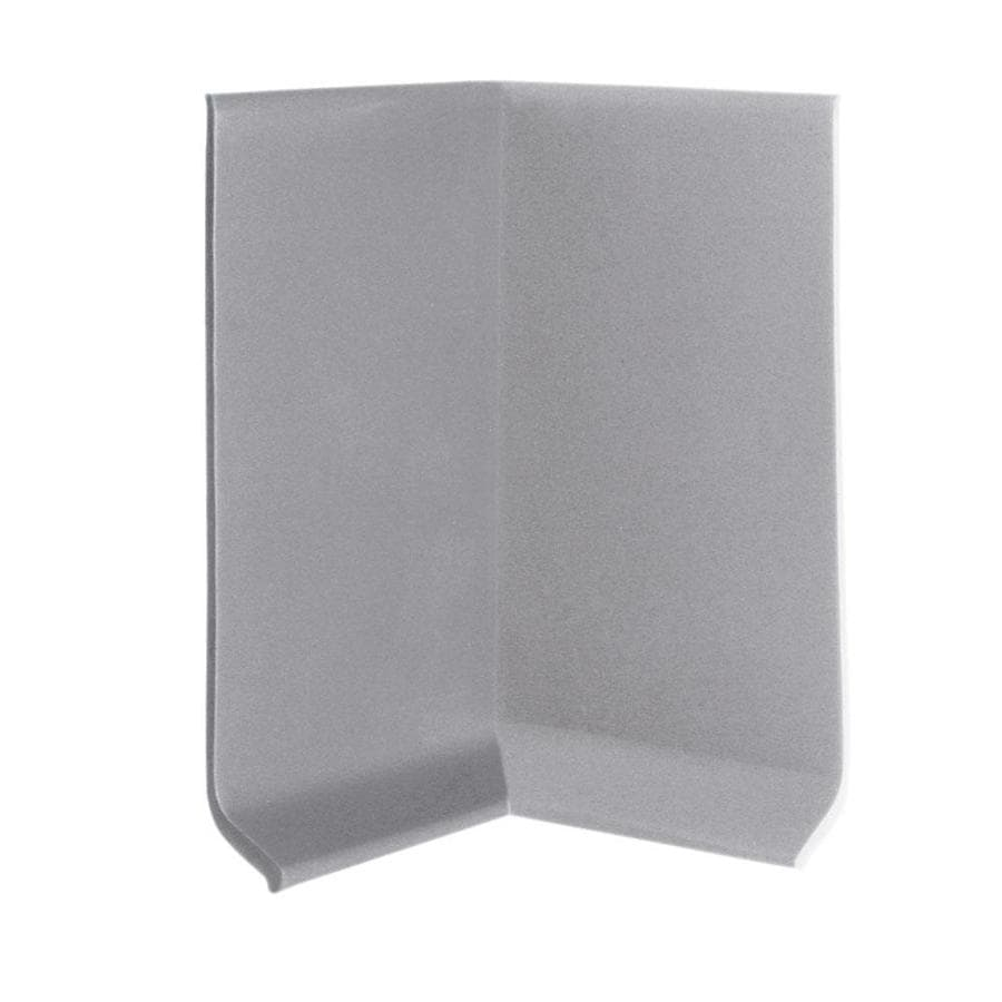 FLEXCO 30-Pack 4-in W x 0.25-ft L Gray Thermoplastic Rubber Inside Corner Wall Base
