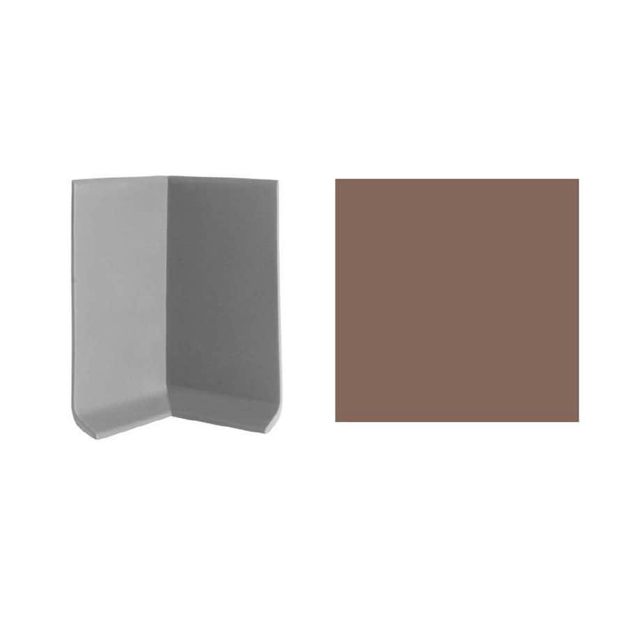 FLEXCO 30-Pack 4-in W x 3-in L Milk Chocolate Inside Corner Vinyl Wall Base
