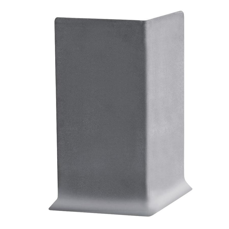 FLEXCO 30-Pack 2.5-in W x 0.25-ft L Medium Gray Thermoplastic Rubber Outside Corner Wall Base