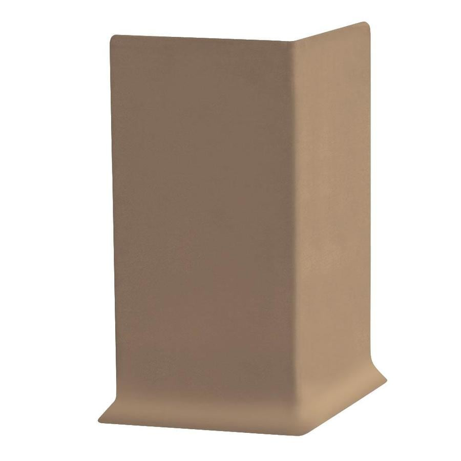 FLEXCO 30-Pack 4-in W x 0.25-ft L Cappuccino Thermoplastic Rubber Outside Corner Wall Base