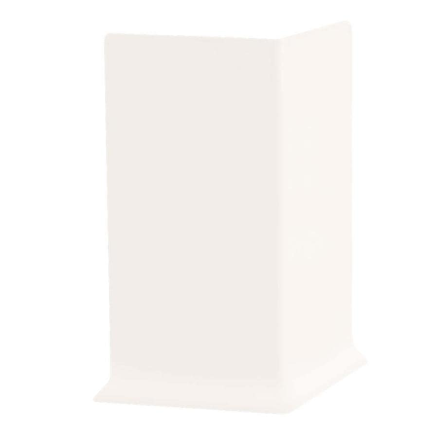 FLEXCO 30-Pack 4-in W x 0.25-ft L True White Thermoplastic Rubber Outside Corner Wall Base