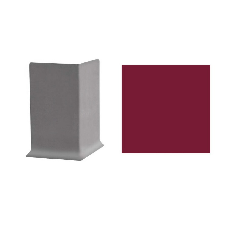 FLEXCO 30-Pack 6-in W x 3-in L Berry Outside Corner Vinyl Wall Base