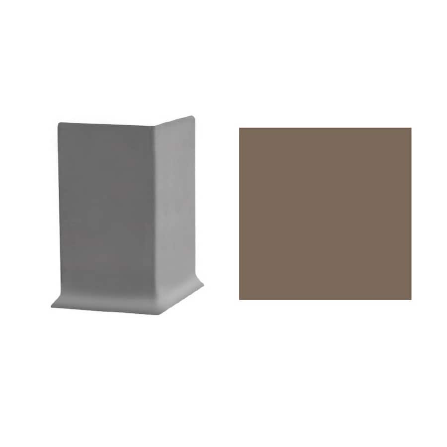 FLEXCO 30-Pack 4-in W x 3-in L Milk Chocolate Outside Corner Vinyl Wall Base
