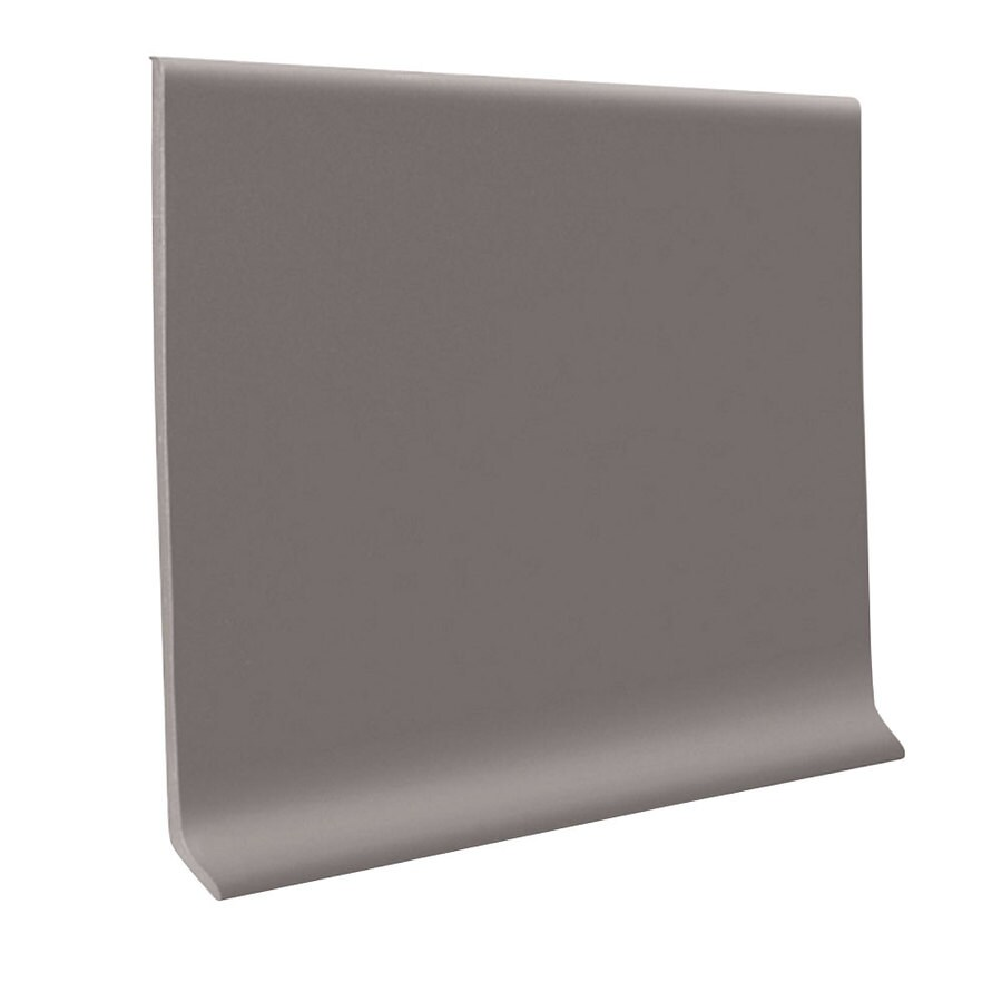 FLEXCO 30-Pack 4-in W x 4-ft L Graystone Thermoplastic Rubber Wall Base