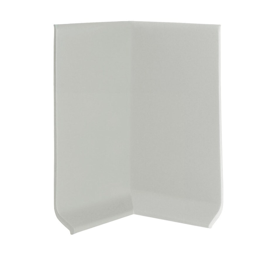 FLEXCO 30-Pack 2.5-in W x 0.25-ft L Light Gray Vinyl Inside Corner Wall Base