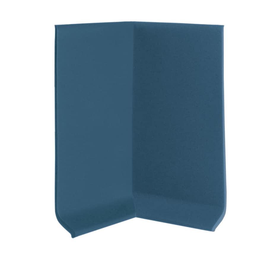 FLEXCO 30-Pack 4-in W x 0.25-ft L Blue Vinyl Inside Corner Wall Base