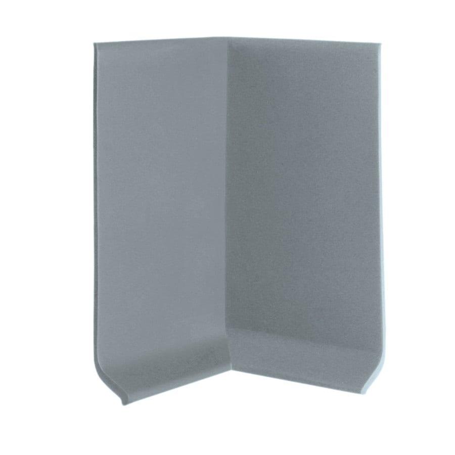 FLEXCO 30-Pack 4-in W x 0.25-ft L Medium Gray Vinyl Inside Corner Wall Base
