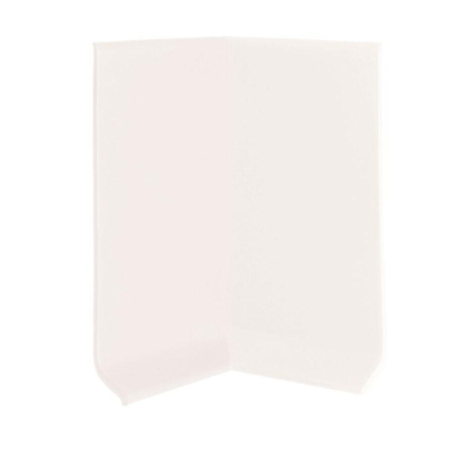 FLEXCO 30-Pack 4-in W x 0.25-ft L True White Vinyl Inside Corner Wall Base