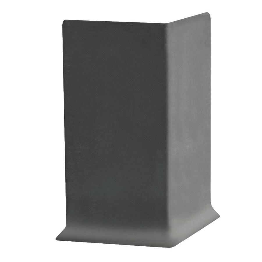 FLEXCO 30-Pack 4-in W x 0.25-ft L Charcoal Vinyl Outside Corner Wall Base