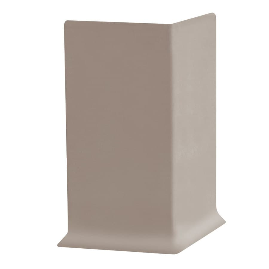 FLEXCO 30-Pack 4-in W x 0.25-ft L Dark Beige Vinyl Outside Corner Wall Base