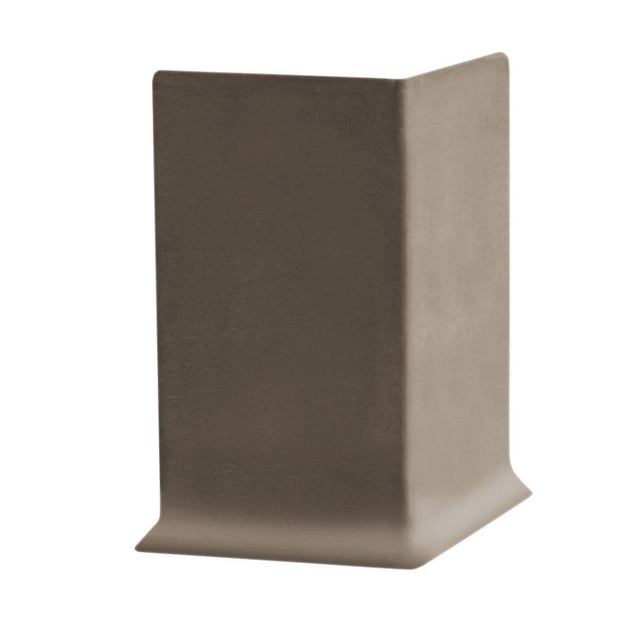 FLEXCO 30-Pack 4-in W x 0.25-ft L Milk Chocolate Vinyl Outside Corner Wall Base