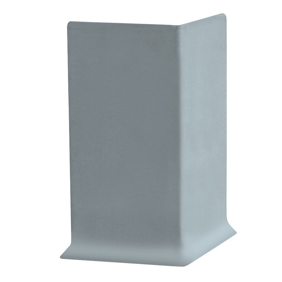 FLEXCO 30-Pack 4-in W x 0.25-ft L Blue Shadow Vinyl Outside Corner Wall Base