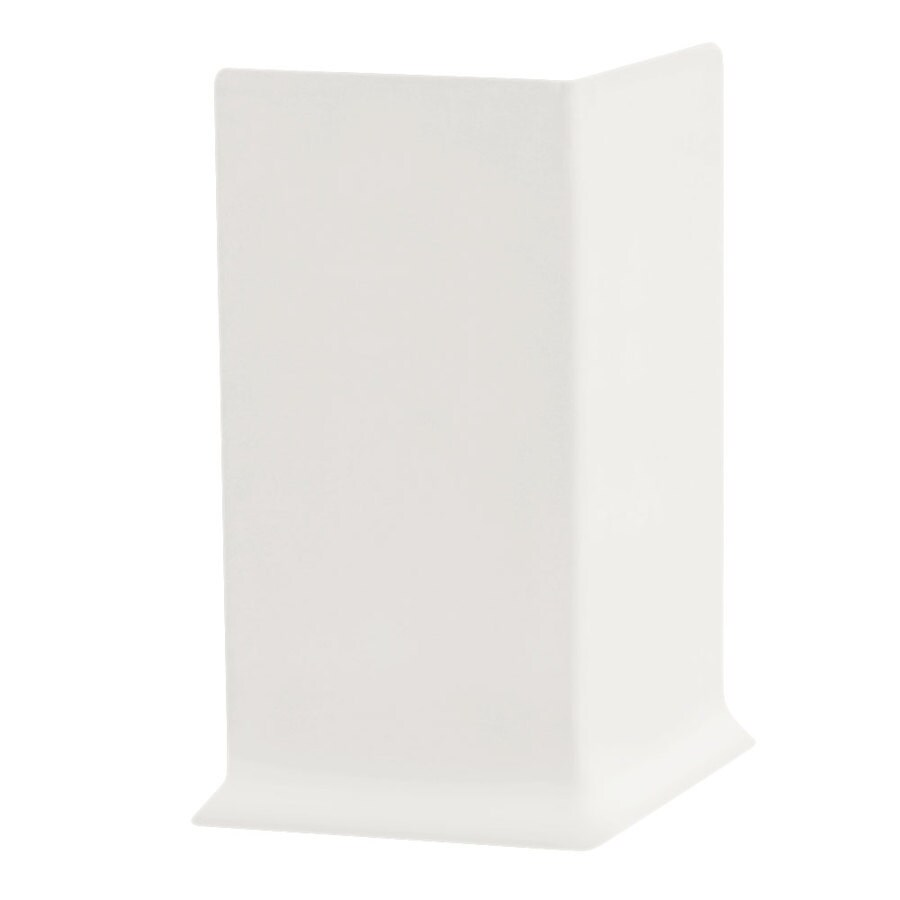 FLEXCO 30-Pack 4-in W x 0.25-ft L Arctic White Vinyl Outside Corner Wall Base
