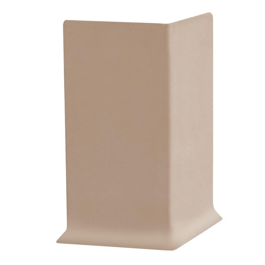 FLEXCO 30-Pack 4-in W x 0.25-ft L Dune Vinyl Outside Corner Wall Base