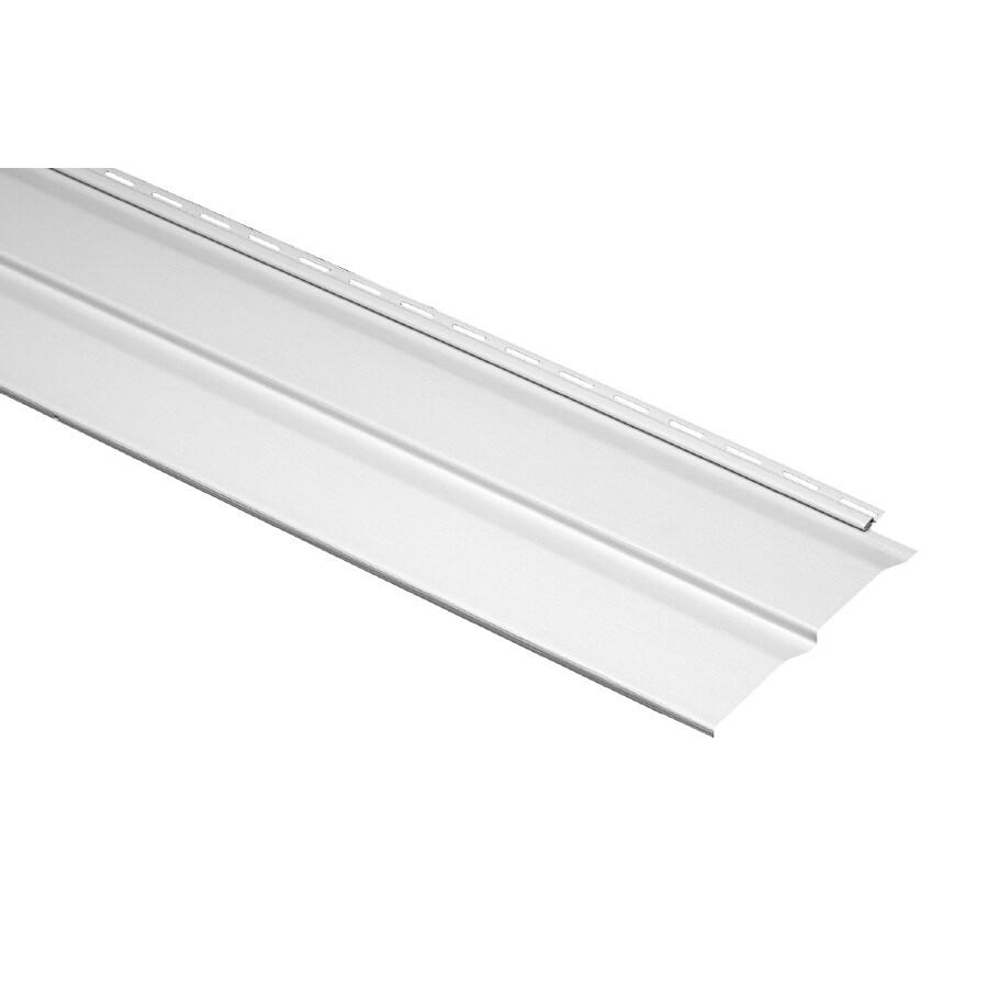 Durabuilt 10.23-in x 145-in White Dutch Lap Vinyl Siding Panel