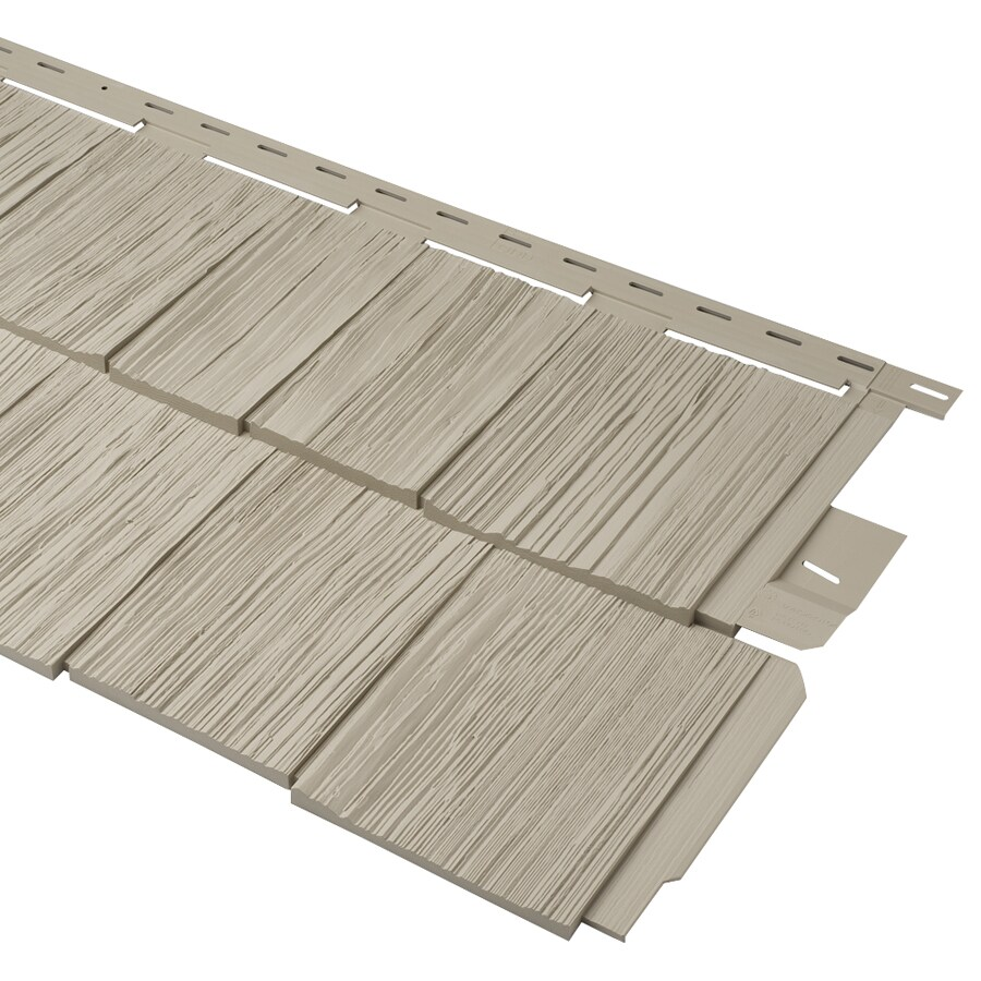 Durabuilt 20.375-in x 58.125-in Woodgrain/Clay Shake Vinyl Siding Panel