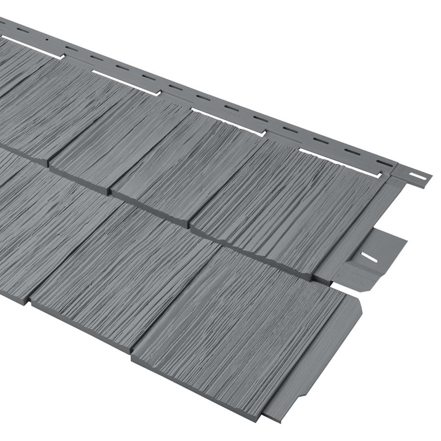 Durabuilt 20.375-in x 58.125-in Woodgrain/Wedgewood Shake Vinyl Siding Panel