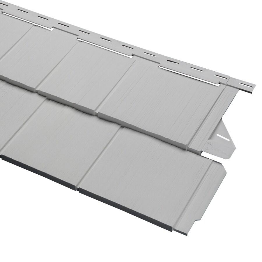 Durabuilt 54.25-in x 15.5-in Woodgrain/Gray Shake Vinyl Siding Panel