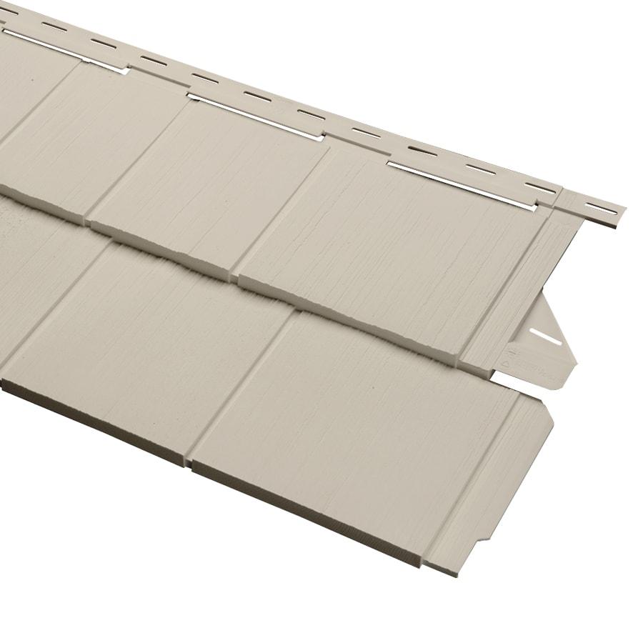 Durabuilt 54.25-in x 15.5-in Woodgrain/Tan Shake Vinyl Siding Panel