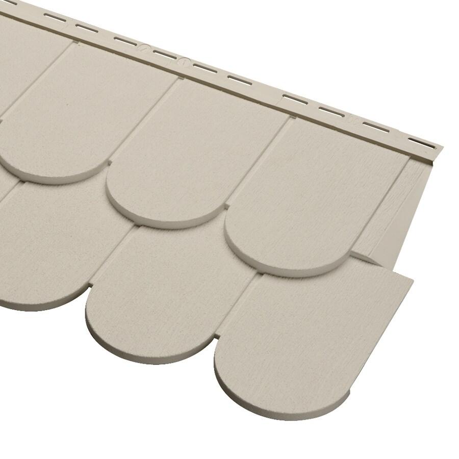 Durabuilt 51.75-in x 16.375-in Woodgrain/Tan Scallop Vinyl Siding Panel