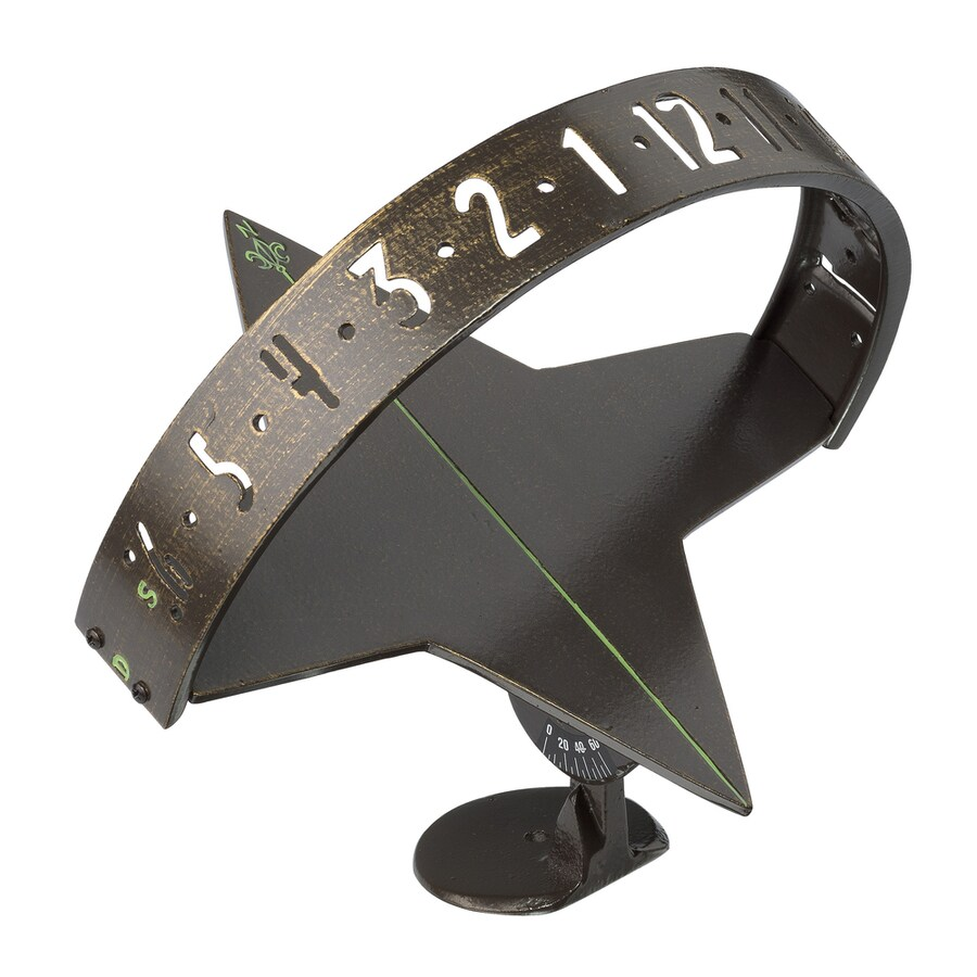 Whitehall 10.75-in dia x 9.5-in H Weathered Bronze Sundial
