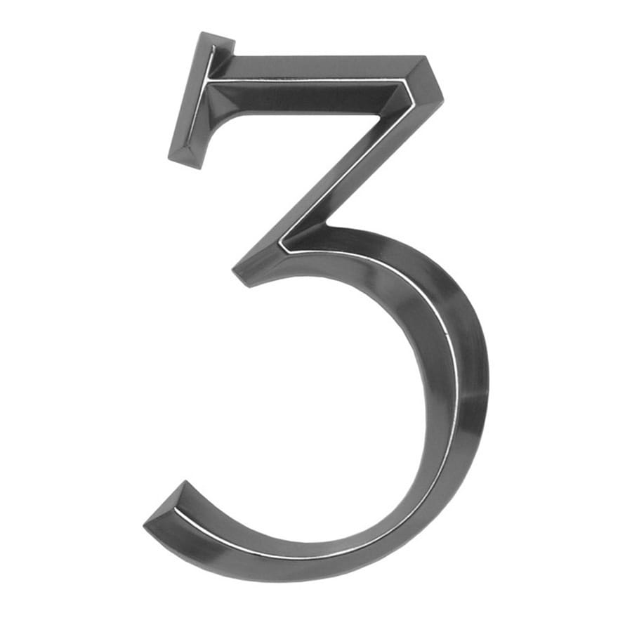 Whitehall 6-in x 4-in Polished Nickel Number 3