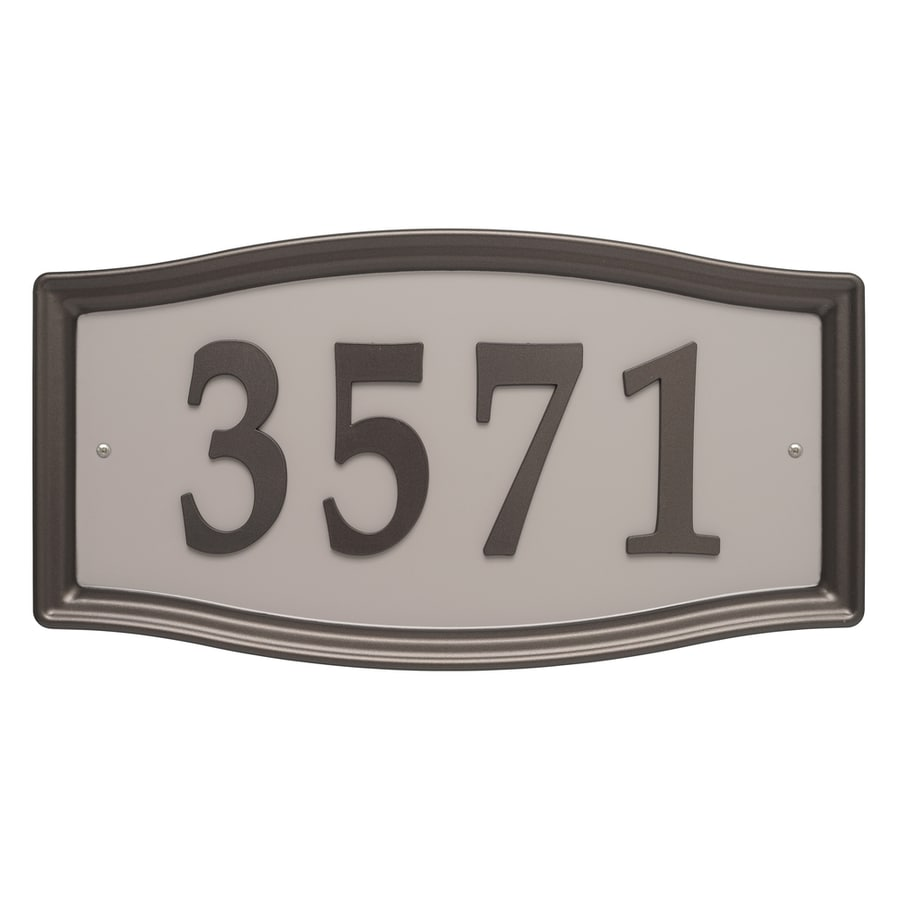 Whitehall 8.25-in Aged Bronze House Number Home Address System