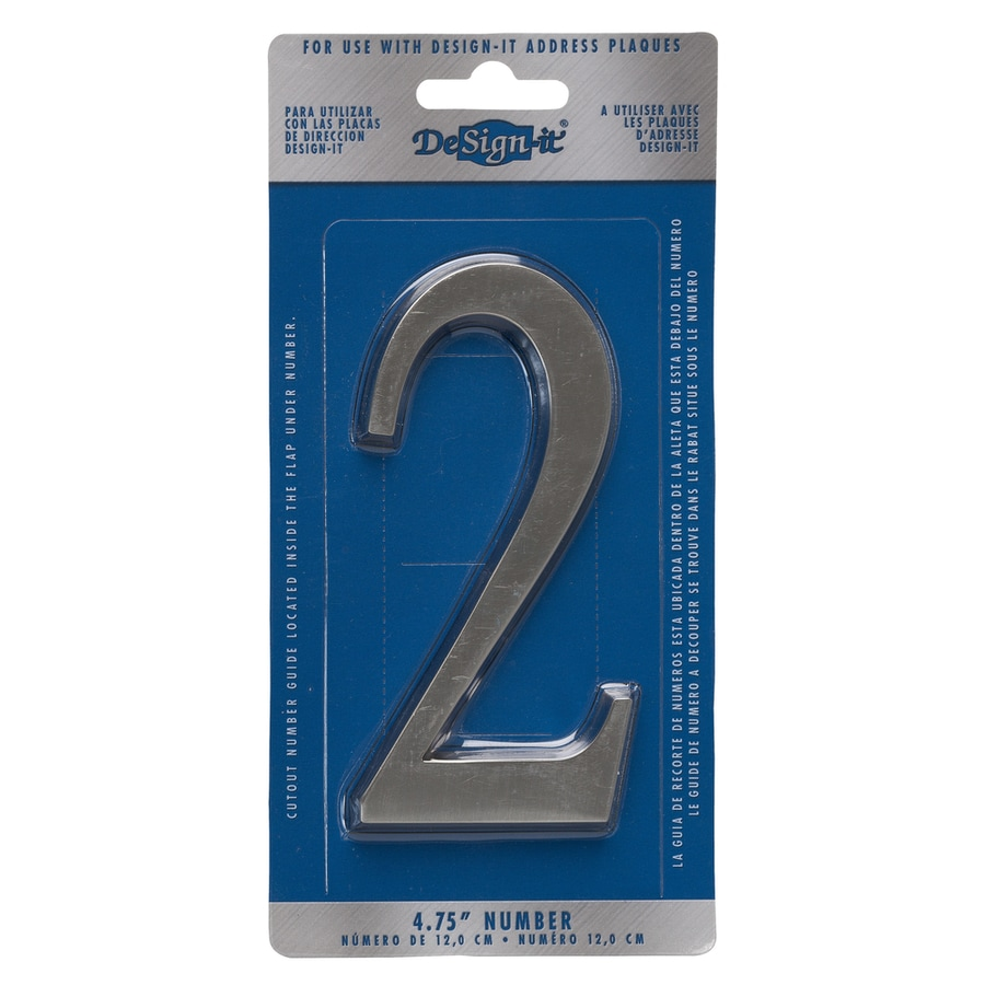 DeSign-it 5-in Satin Nickel House Number 2