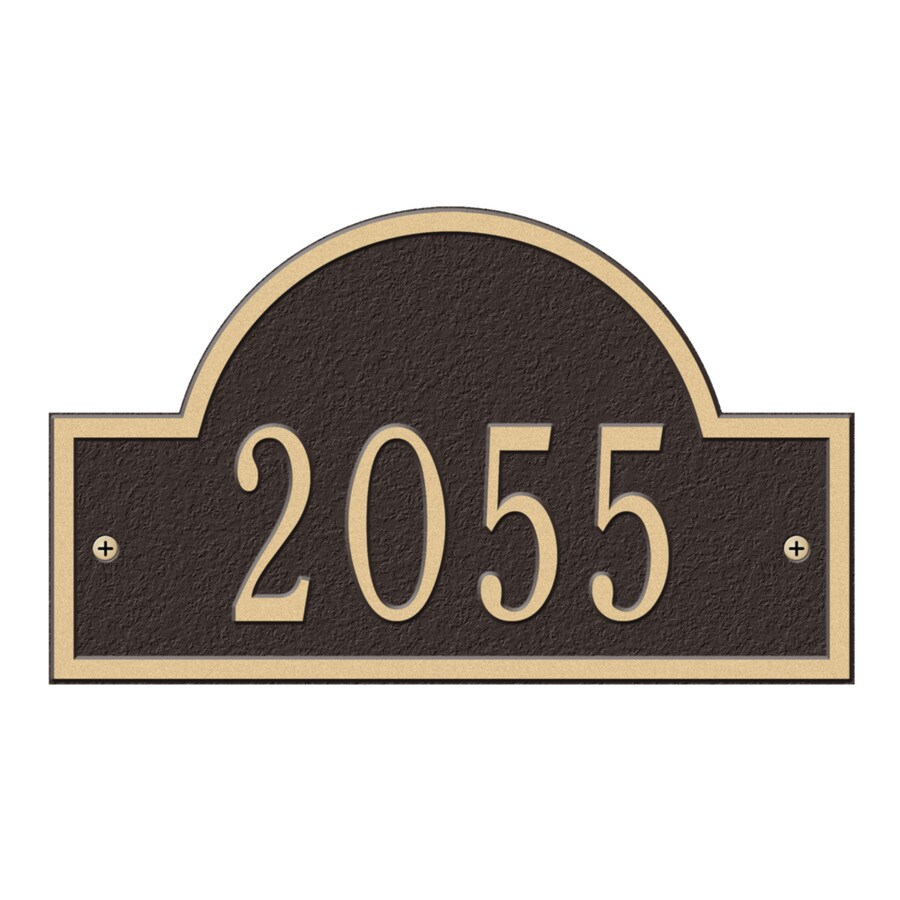 Whitehall 4.75-in Aged Bronze House Number Address Plaque