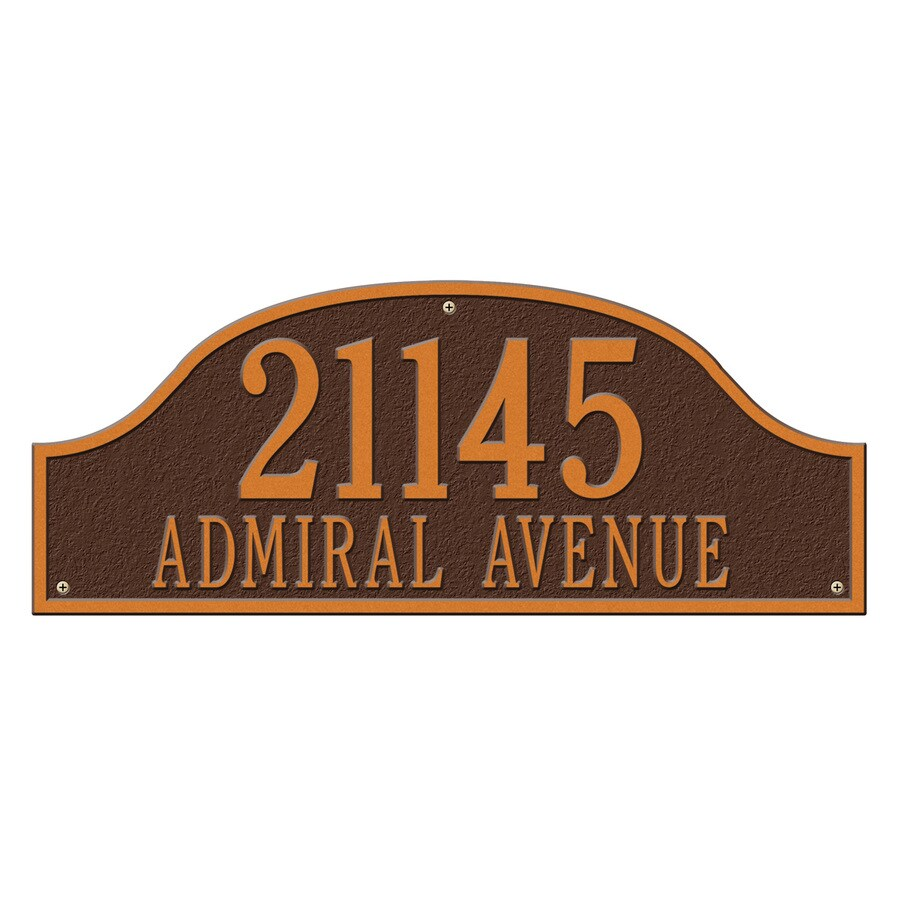 Whitehall 9.5-in x 23.75-in Admiral Estate Wall Two Line Antique Copper Plaque
