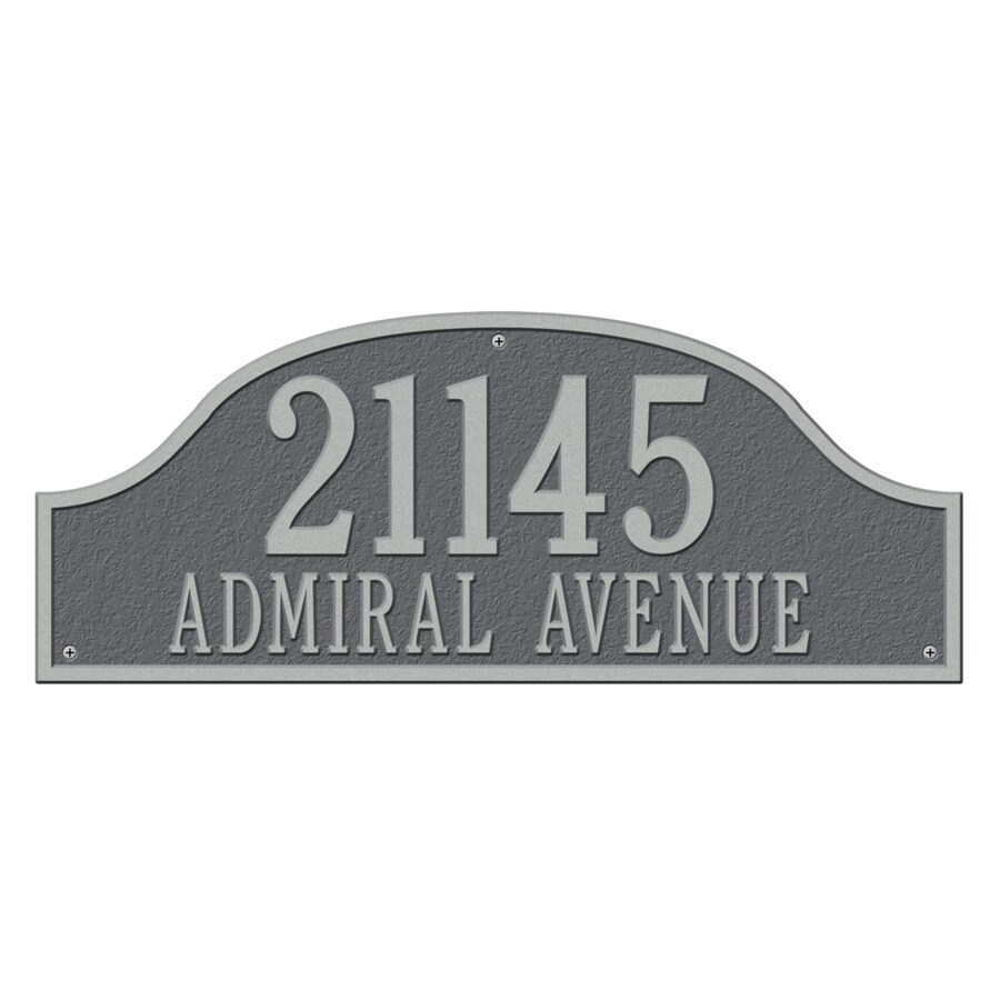 Whitehall 9.5-in x 23.75-in Admiral Estate Wall Two Line Pewter Silver Plaque