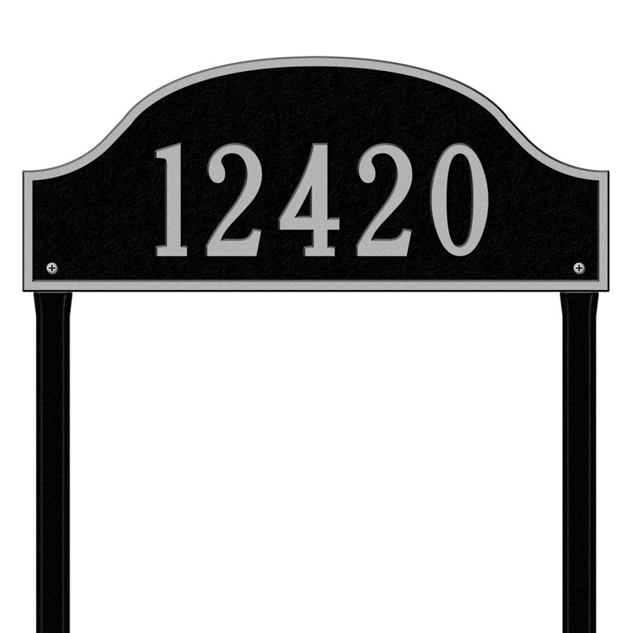 Whitehall 26.5-in x 23.75-in Admiral Estate Lawn One Line Black/Sliver Plaque