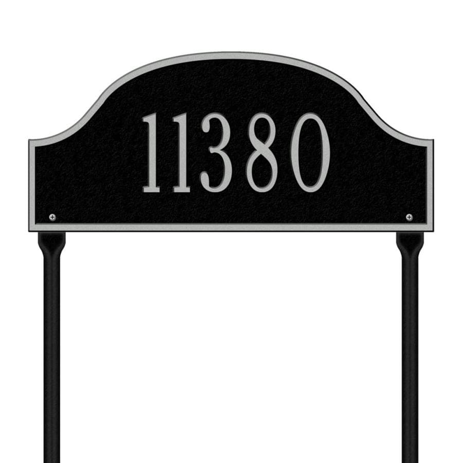 Whitehall 24-in x 15.75-in Admiral Standard Lawn One Line Black/Sliver Plaque
