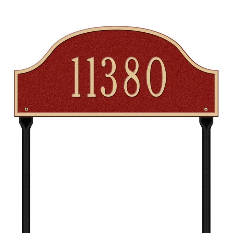 Whitehall 24-in x 15.75-in Admiral Standard Lawn One Line Red/Gold Plaque