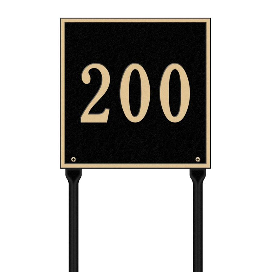 Whitehall 28-in x 11-in Square Standard Lawn One Line Black/Gold Plaque