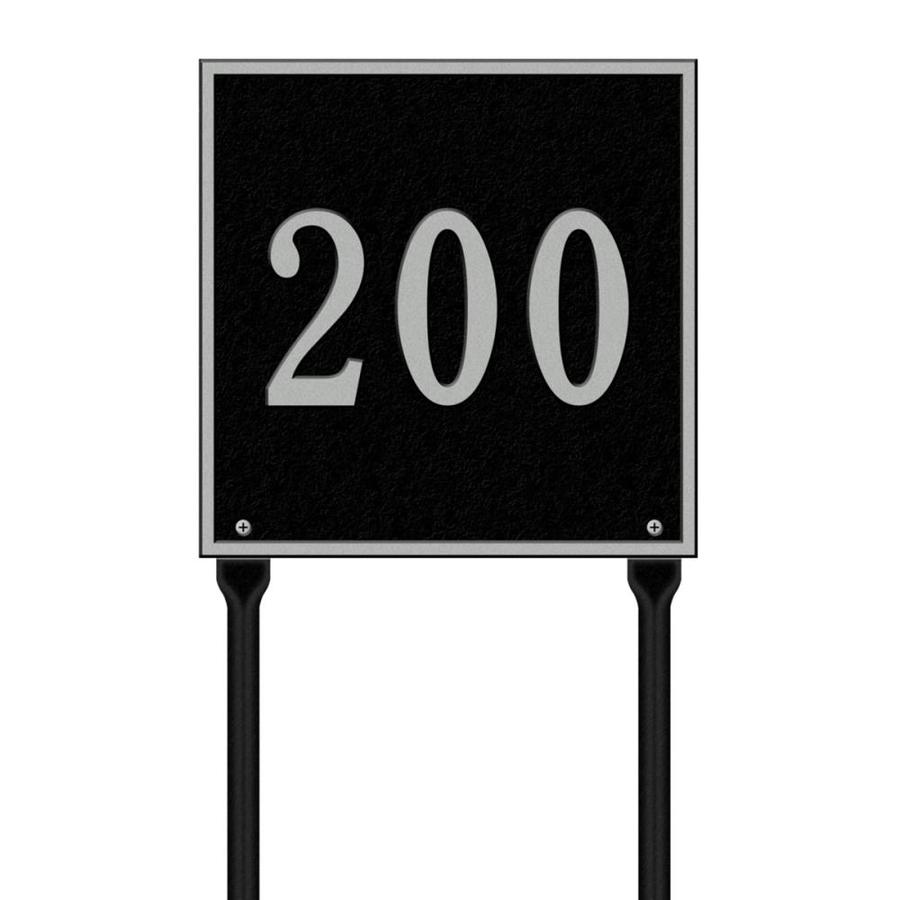 Whitehall 28-in x 11-in Square Standard Lawn One Line Black/Sliver Plaque