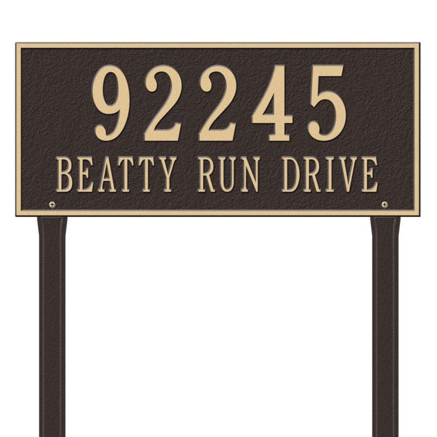 Whitehall 27-in x 23.25-in Hartford Estate Lawn Two Line Bronze/Gold Plaque