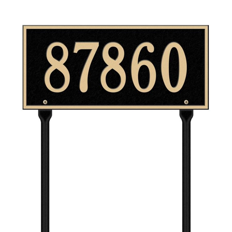Whitehall 24.25-in x 16-in Hartford Standard Lawn One Line Black/Gold Plaque