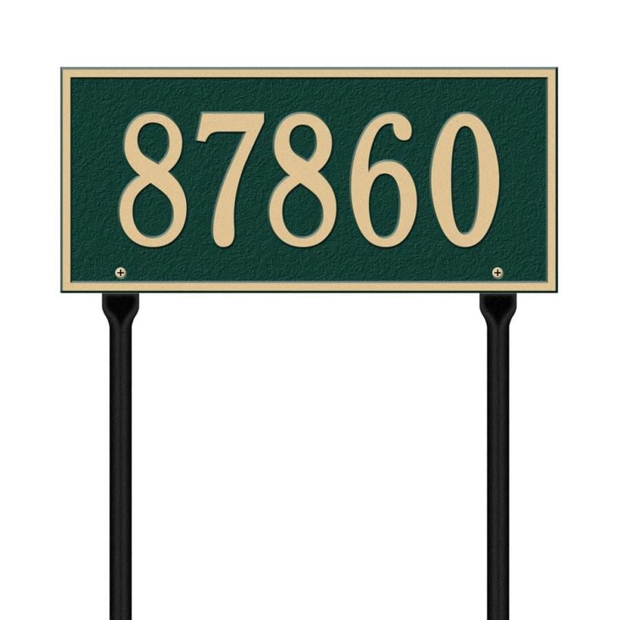 Whitehall 24.25-in x 16-in Hartford Standard Lawn One Line Green/Gold Plaque