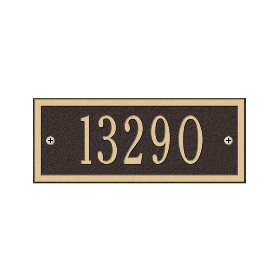 Whitehall 3.5-in x 8.75-in Hartford Petite Wall One Line Bronze/Gold Plaque