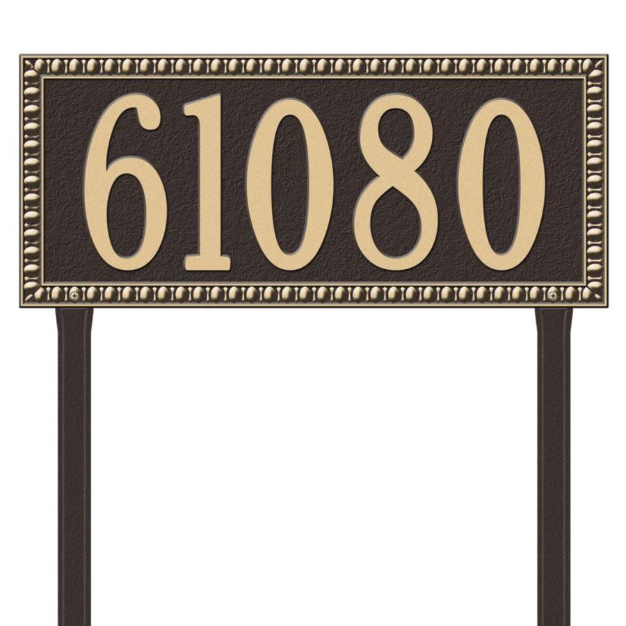 Whitehall 27-in x 23.25-in Egg and Dart Estate Lawn One Line Bronze/Gold Plaque