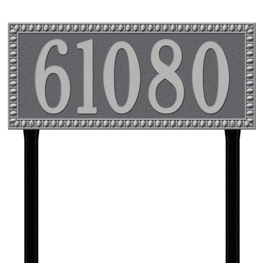 Whitehall 27-in x 23.25-in Egg and Dart Estate Lawn One Line Pewter Silver Plaque