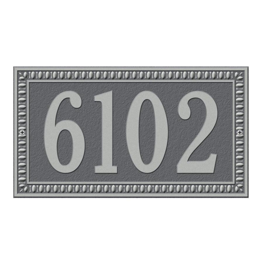 Whitehall 7.25-in x 13-in Egg and Dart Standard Wall One Line Pewter Silver Plaque